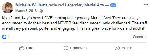 Teenadult2 1, Legendary Martial Arts